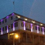 Fasadbelysning på Hotell Kungshamn